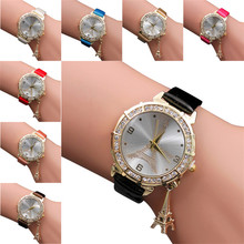 Clock  Women Female Models Fashion Thin Belt Rhinestone Belt Watch Charming Gift  Beautiful High Qulity Hot Selling Cute M1