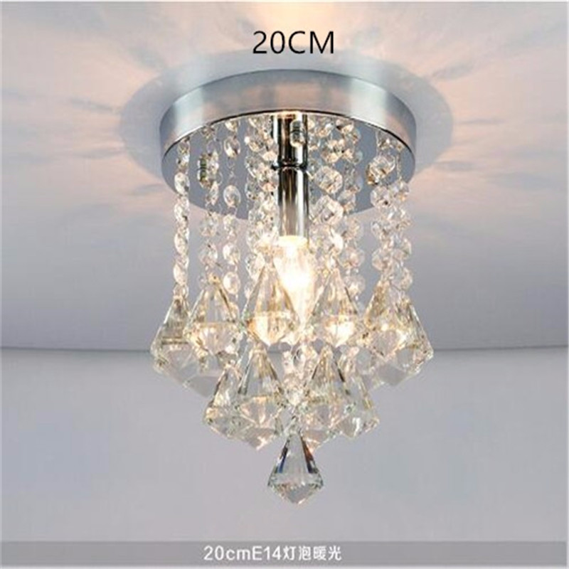 Rmamaryled Chandelier Crystal Stainless Steel Crystal Lamps Led Crystal Brief Living Room Lights Circle Lighting Including Bulb Elegant Appearance Lights & Lighting Ceiling Lights & Fans