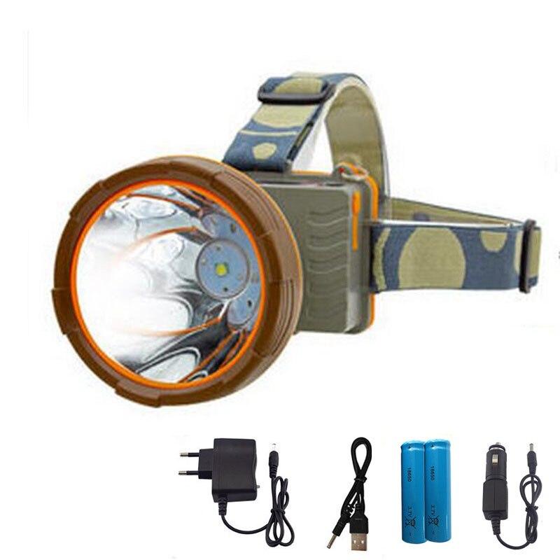 Étanche T6 Led Phare longue gamme Phare Tête de La Torche haute Ultra lumineux Lampe lumière lampe Frontale 18650 Pour Camping Pêche