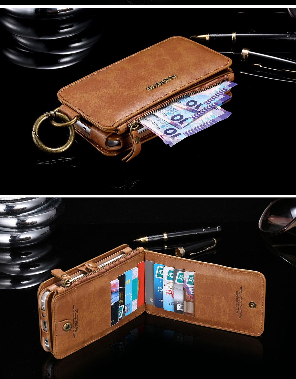 Retro Leather Wallet Case For Samsung Galaxy Note 7Note5Note 3Note 4 S7S6S6 Edge Plus Cover FlipCard Holder Capa Phone Bag (20)