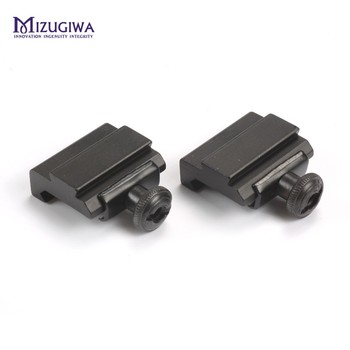 2Pcs/pair Hunting Scope Mount 20mm to 11mm Base Weaver Picatinny Rail To Dovetail Adapter Caza unting Accessories - discount item  70% OFF Hunting