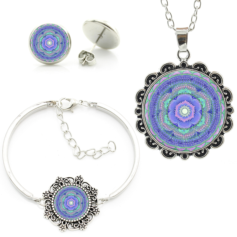 Earring Design Ideas wire jewelry design ideas earring design ideas to make items in vineyard creek jewelry findings Vintage Design Blue Purple Yoga Mandala Flower Necklace Earrings Bracelet Sets Women Girls Jewelry Set Gift