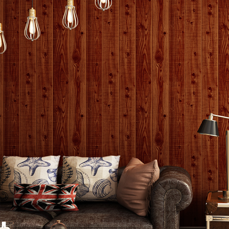 Painting Supplies & Wall Treatments Chinese Style Retro Wood Stripe Pvc Wallpaper Modern 3d Living Room Study Elders Room Home Decor Waterproof Wall Papers Roll 3d