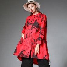Женские блузки рубашки красный размера плюс хлопок осень 2020