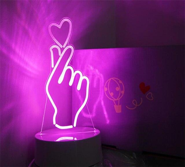 aliexpress koop mooie meisje hart nachtlampje dan hart gebaar