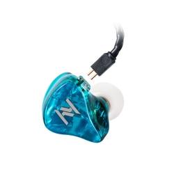 Yinyoo ASH 1BA+1DD In Ear Earphone HIFI Bass Earphone DJ Metal Earphone Headset With 2PIN Detachable Cable Blue Color