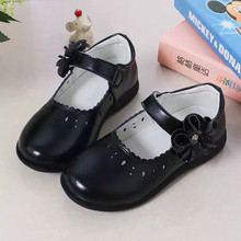 Autumn New Princess Girls Shoes For Kids School Leather Shoes For Student Black Dress Shoes For Girls 3 4 5 6 7 8 9 10 11 12-16T 2019new kids children shoes flower cowhide princess shoes girls wedding student black leather shoes 3 4 5 6 7 8 9 10 11 12 13t
