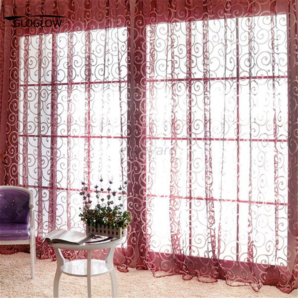4 colors fashion floral curtains for living room modern kitchen curtains fabric curtain for bedroom 100