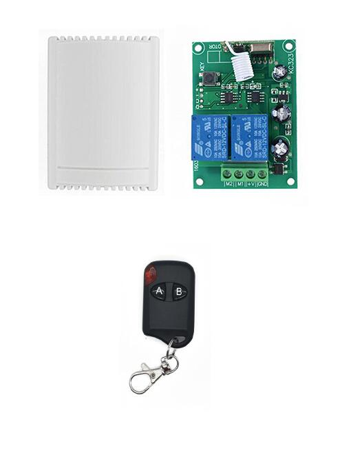 Wireless 433 MHz RF 2 Channel Remote Control Learning Code 1527 Transmitter And DC 12V 2CH Relay Receiver control DC motor