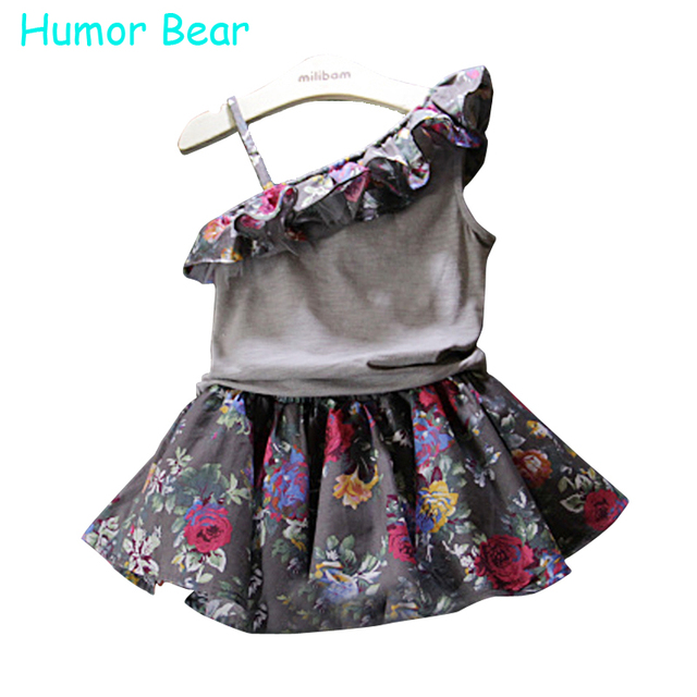 Baby Girls Clothes t-shirt + Restoring Ancient Ways Flower Dress Clothing Set Kids Clothes Sets