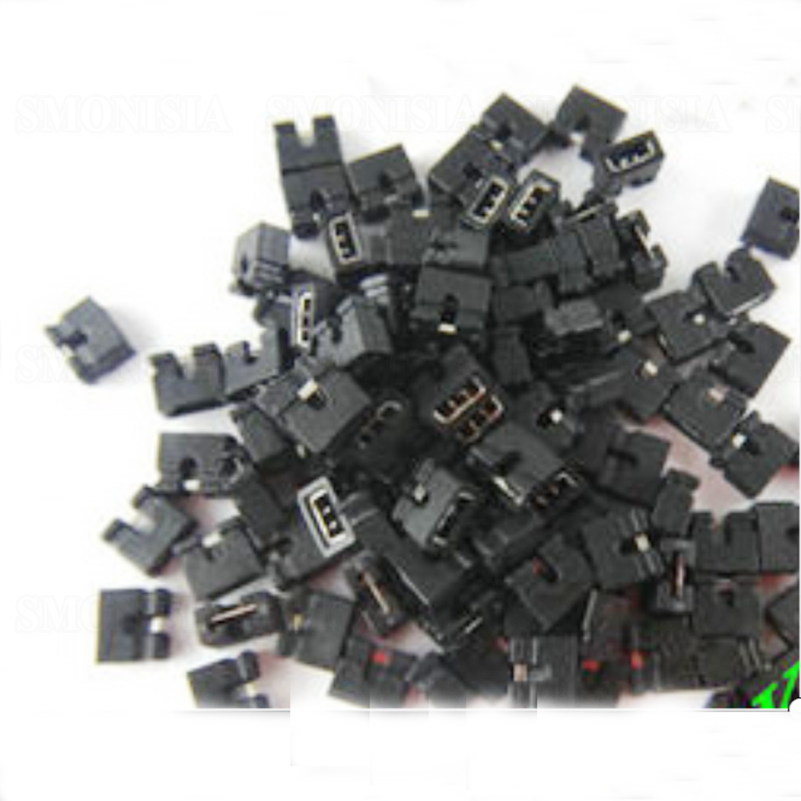 1000PCS - 4000PCS Jumper Cap Short Circiut Block Pin Cap 2.0mm Spacing eyelet panel color block chevron jumper