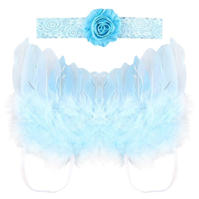 BaBy Photography Props 2016 Baby Girls Lovely Angel Wings Wing Set Feather Newborn Photography Props