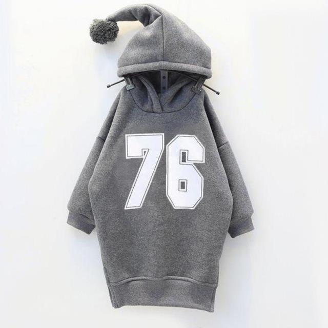 Los niños coreanos suéter otoño invierno nuevas niñas ocio ropa suéter ropa de bebé niñas gris cabeza de impresión digital 6 Y