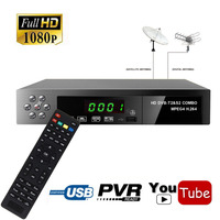 Digital DVB T2 Terrestrial Receiver Combo Decoder DVB S2 Satellite USB Wifi Dongle Support IKS Youtube