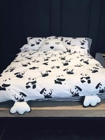 100 Cotton Panda Anime Style Cute Feet 4 Pcs 5 Pcs 6 Pcs Bedding Sets Duvet
