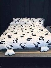 Hotsale 100% Cotton Black and white 4pcs bedding set Panda bed sheet/bedspread/Duvet cover pillowcases set Twin Queen King size