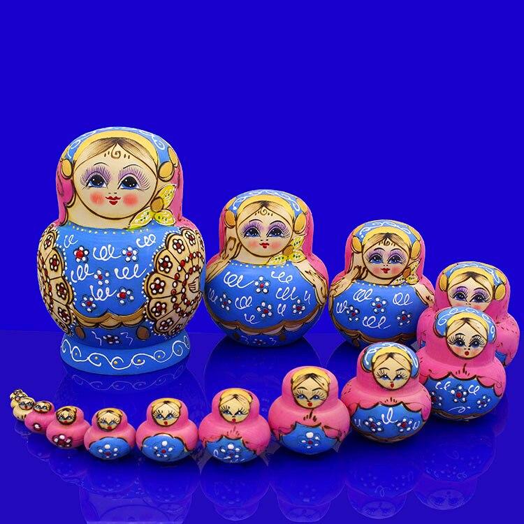15 couches russie poupées créative Basswood peint à la main Matryoshka poupée enfants jouet enfant anniversaire cadeau de noël