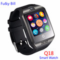 New q18 passometer smart watch com tela sensível ao toque câmera cartão tf u8 bluetooth smart watch para android ios telefone pk dz09 gt08 A1
