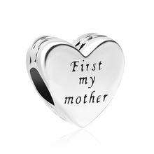 0626961b5 2018 new free shipping 1pc silver heart shape first my mother forever my  friend bead Fits