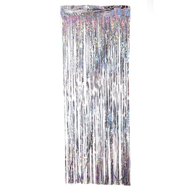 metallic foil fringe curtain tinsel