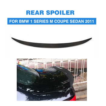 Carbon Fiber Rear Trunk Roof Spoiler Wing Boot Lip Rear Tail Lid for BMW 1 Series E82 1M Coupe 2 Door 2007 - 2013