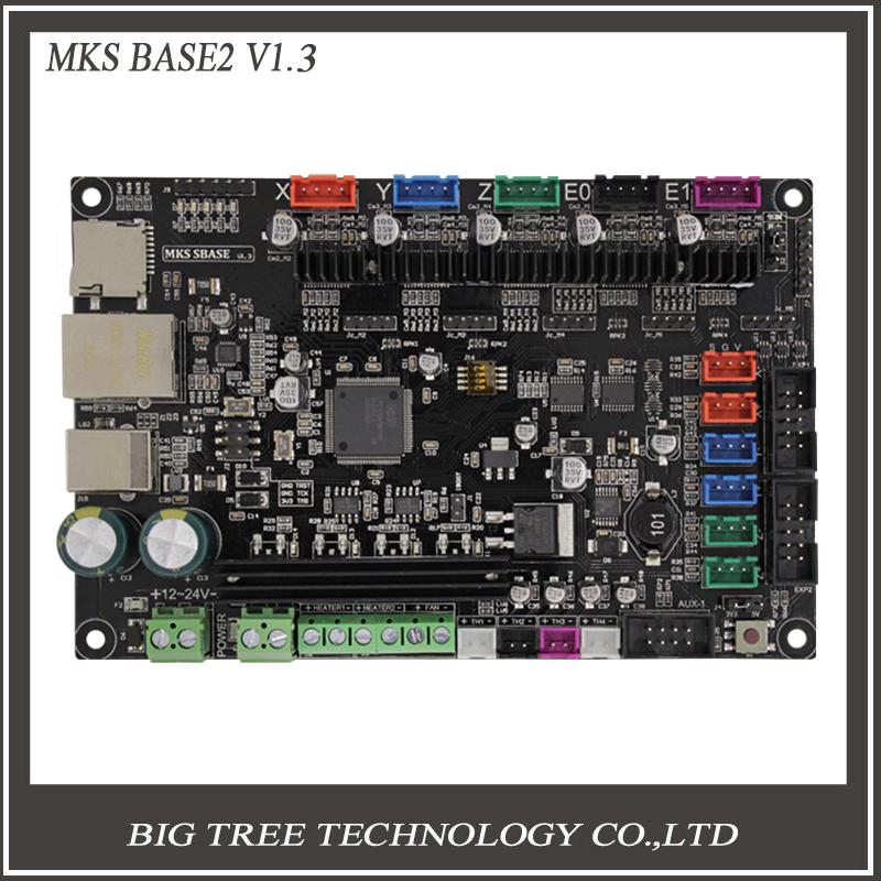 Prix pour 3 Dpriter Smoothieware carte contrôleur MKS SBASE V1.3 opensource 32bit Smoothieboard Bras soutien Ethernet préinstallé dissipateurs