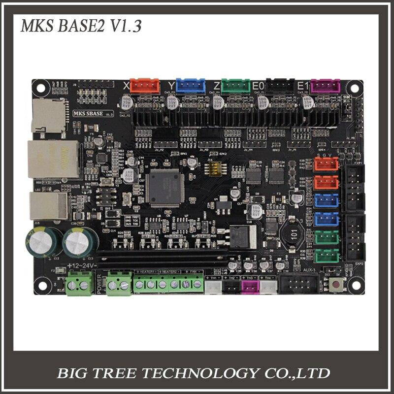 32bit Bras plate-forme Lisse contrôle conseil MKS SBASE V1.3 open source MCU-LPC1768 soutien Ethernet préinstallé radiateur