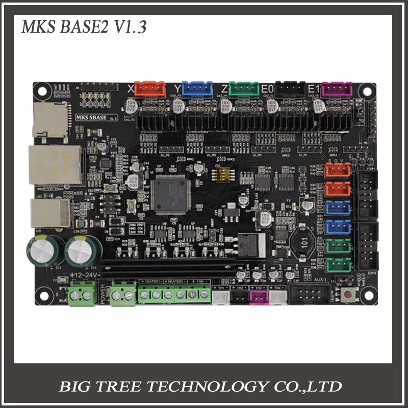 3Dpriter Smoothieware controller board MKS SBASE V1 3 opensource 32bit Smoothieboard Arm support Ethernet preinstalled heatsinks