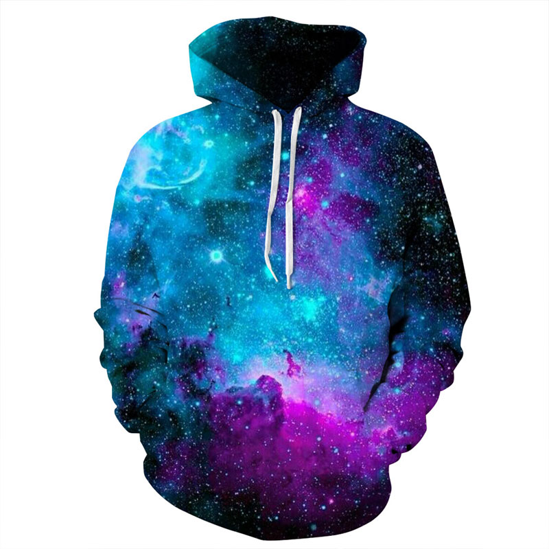 Mr.1991INC Space Galaxy Hoodies Hooded Men/Women Hat 3d Sweatshirts Print Colorful Nebula Thin Autumn Sweatshirts