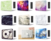 цена Marble Print Protective Hard Shell Case Keyboard Cover Skin Set For 11 13 15