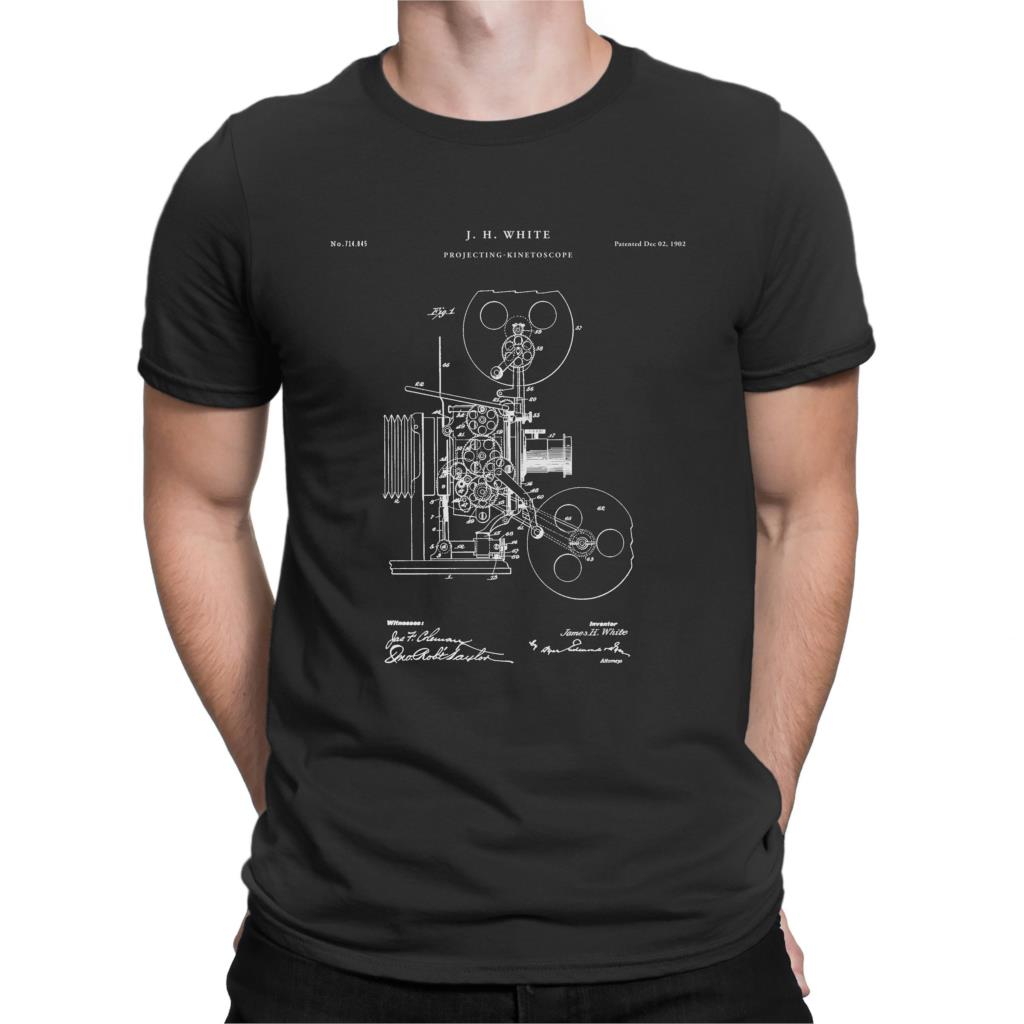 US $12 99 |Projecting Kinetoscope Patent T Shirt First Movie Projector  Movie Lover Gift Cinema Shirt Movie Shirt Film Director P277-in T-Shirts  from