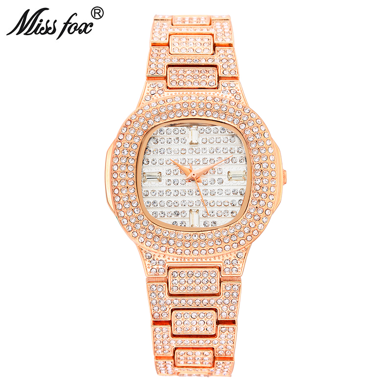 Miss Fox Role Watches Quartz Women Famous Brand Rose Gold Watch Waterproof Diamond Stainless Steel Ar Ladies Luxury Wrist watch 2016 new ladies fashion watches decorative grape no word design gold watch stainless steel women casual wrist watch fd0107