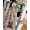 Kaftan Abaya Muçulmanos Vestidos de Noite Robe De Soirée A Linha de Colher Vestido de noite 2016 de Moda de Nova Chiffon Longo Prom Vestidos Plus Size tamanho