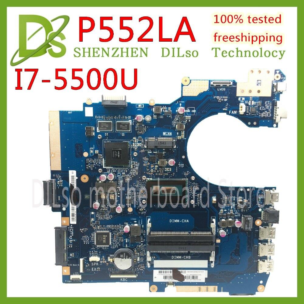 KEFU P552LA carte mère Pour ASUS P552LJ Ordinateur Portable carte mère P552LA I7-5500U CPU 4g RAM carte mère travail 100%