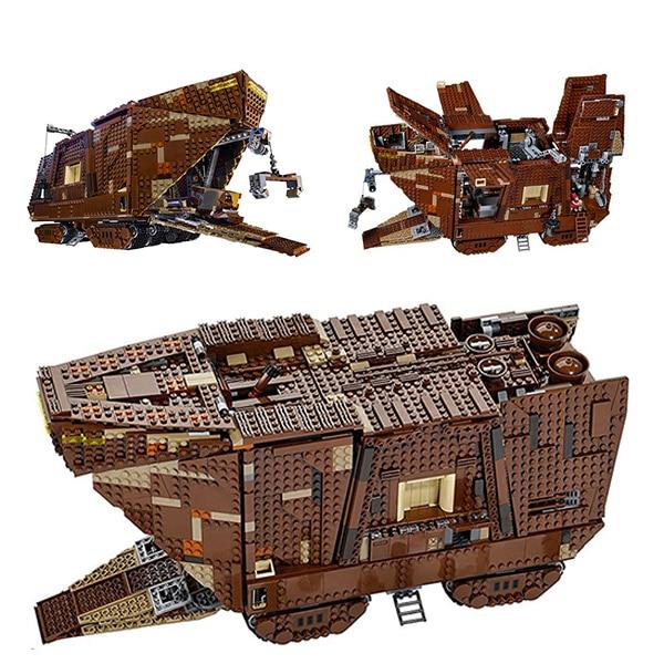 LEPIN 05038 Star Movie Sandcrawler Mobile 75059 War Building Block 3346Pcs Bricks Toys Gift For Children Sandcrawler lepin 05038 star wars episode iv sandcrawler similar with 75059 buliding kit