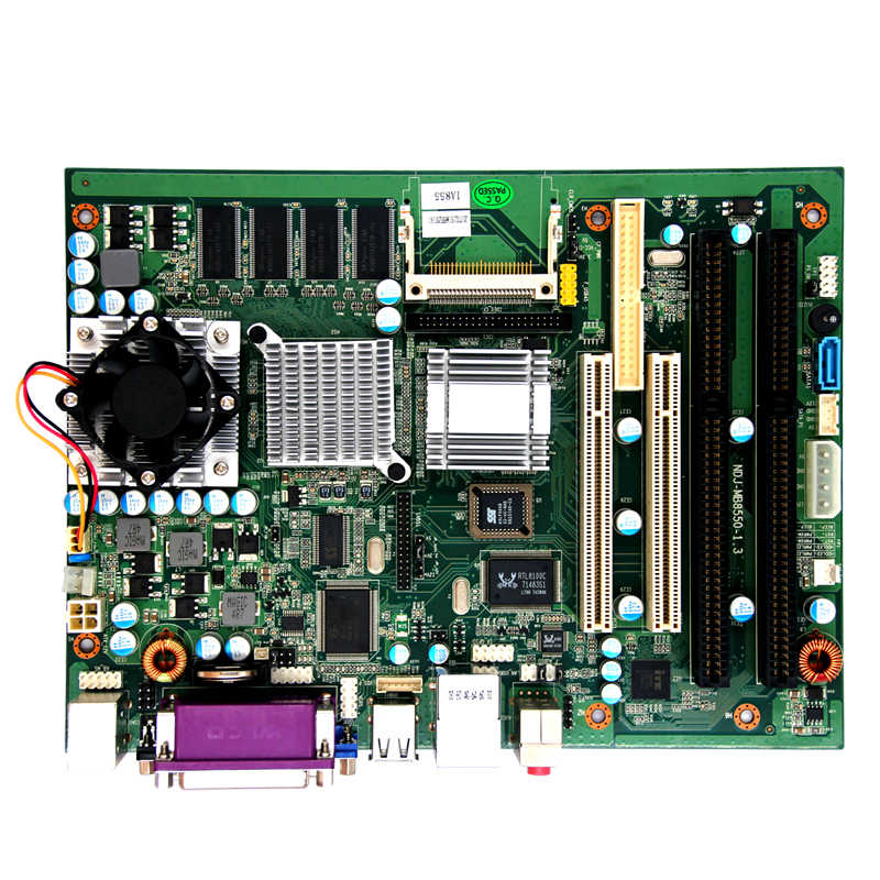 X86 Intel Celeron M 855GM processor motherboard 2 RS232 6 USB port dual lvds  mainboard