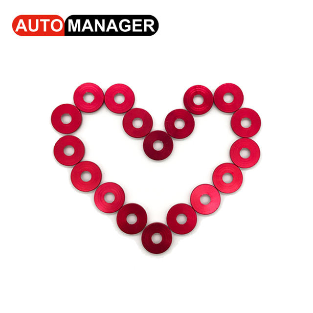 Fender Washer JDM Style fit Any 6mm Hole Bumpers Engine Dress Up License Plate Aluminum Washers With Bolts