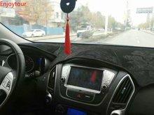 สำหรับ Hyundai Tucson Ix35 2009 2015 Flannel แดชบอร์ด Dashboard ครอบคลุม Dash Pad พรมอุปกรณ์เสริม 2010 2011 2012 2013