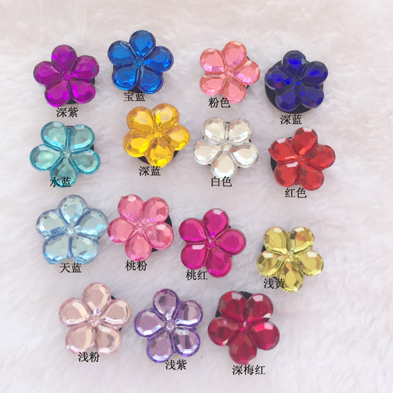 1 Set Acrylic Crystal Shoes Decoration Heart-shaped Palm Flower Buckle Accessory For Garden Shoes Croc Shoes Shoe Accessories
