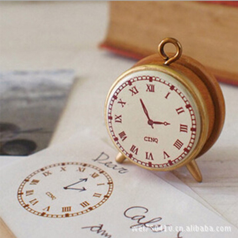 Mini Vintage Clock Wooden Stamp Diy Decal Stamps For Scrapbooking Stationery Scrapbooking Stamps Gift