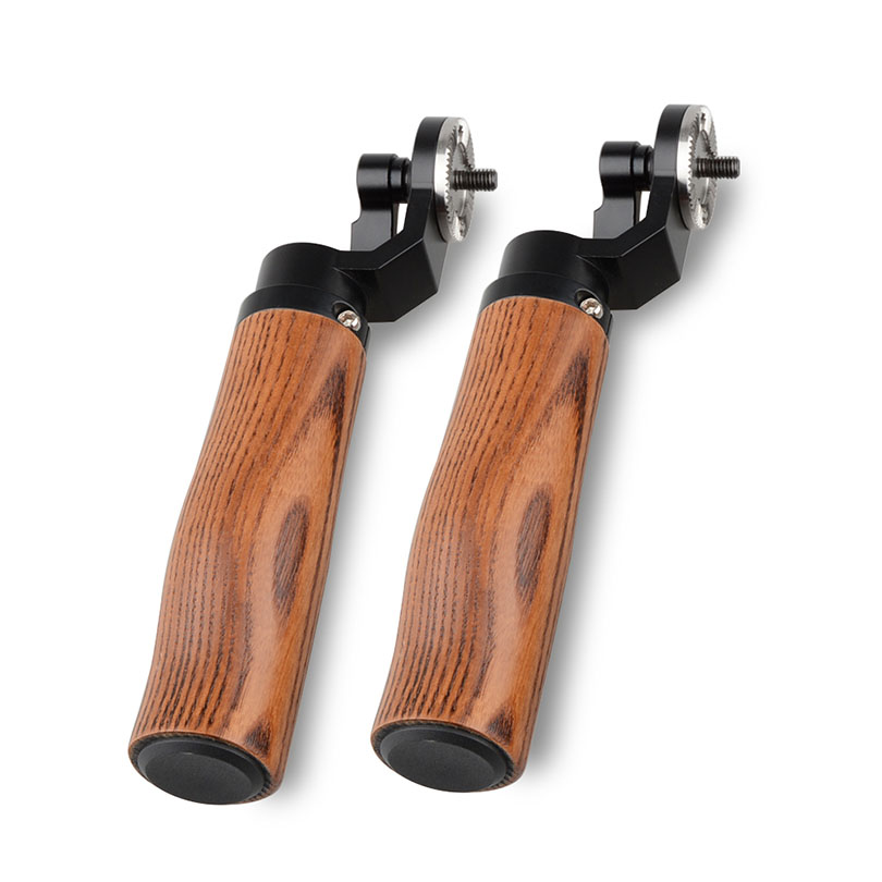 CAMVATE Wooden Camera Handle Left Right DSLR Rig Shoulder Mount Grip For ARRI Rosette Cage Handle Stabilizer Steadicam C1494 camvate arri style rosette handgrip leather for dslr handle shoulder rig pack of 2