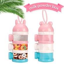 Детская коробка для молочного порошка младенцев трехслойный