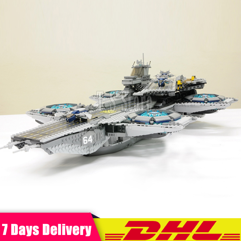 DHL IN Stock 3057Pcs LEPIN 07043 SY911 Super Heroes The SHIELD Helicarrier Building Blocks Bricks Set DIY Toys Fit for 76042 new luxury men watch roman numbers stainless steel quartz wrist watch male clock mens watches relogio masculino 2018