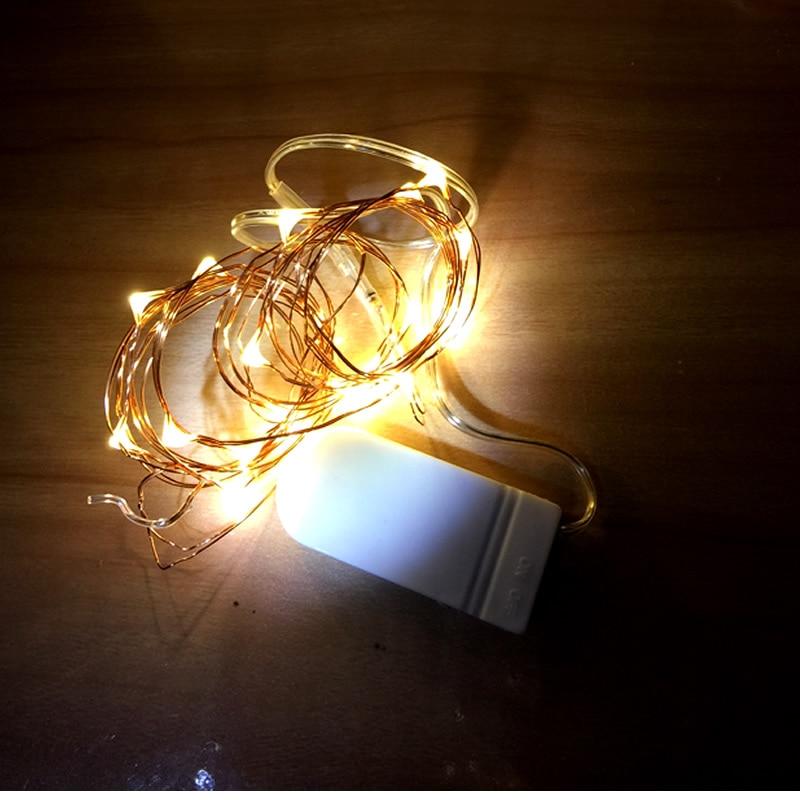 10PCS Cristmas Lights Copper Wire Fairy Lights Bateri String Bateri - Pencahayaan perayaan - Foto 4