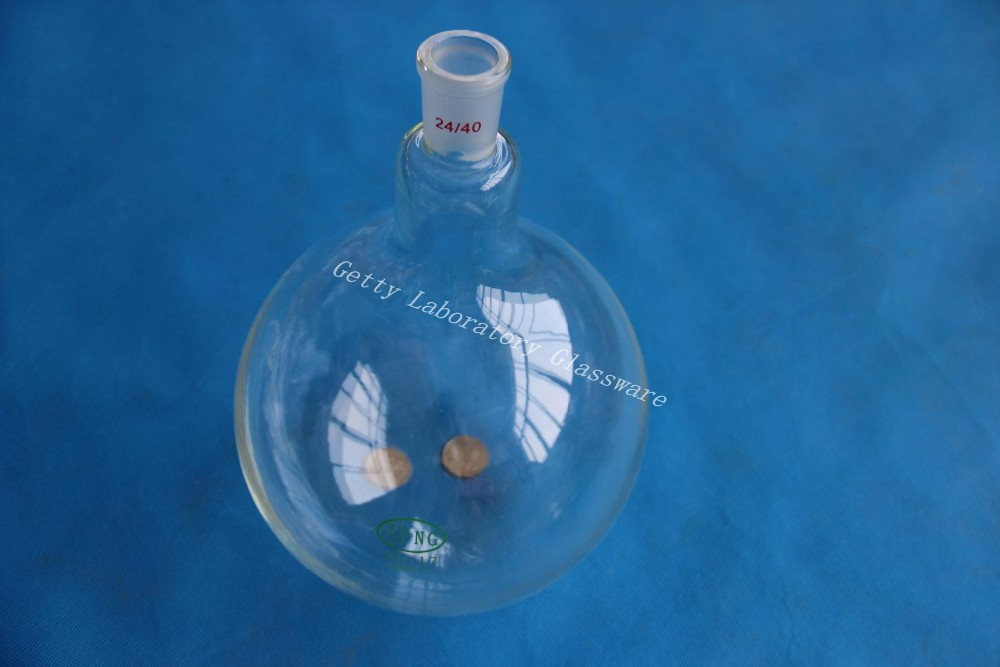цена на 3L (3000ml) single neck round bottom flask, Joint 24/40,heavy wall (Lab glass)