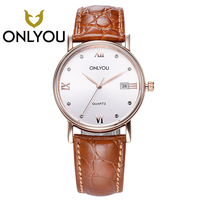 ONLYOU Women Watches For Chinese Brand Fashion Men S Watch Leather Wristwatch Date Display Waterproof Clock
