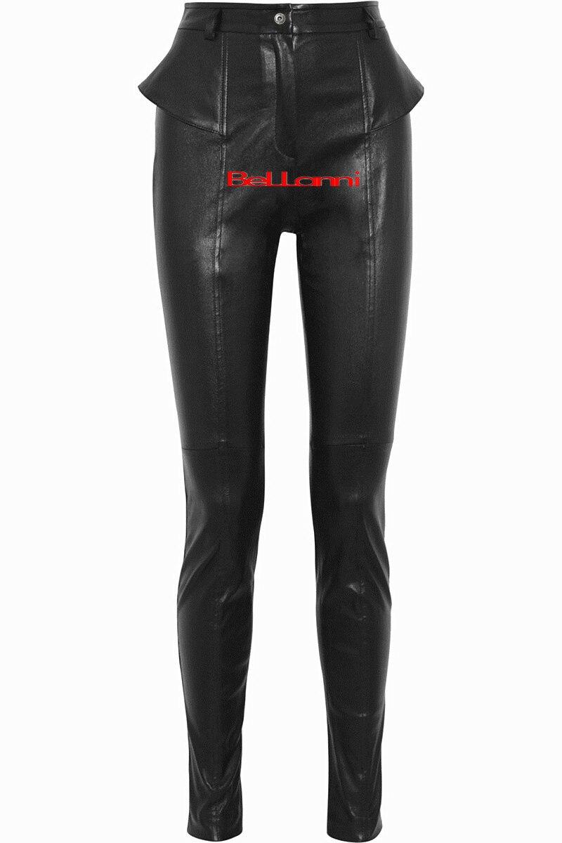 Era Brillante De Length Black longer Cintura Moda Cuero 2019 Normal La Pu Alta Primavera Pantalones Mujer Invierno Lápiz Length Marca Delgada Wj1652 vx6gwxqF