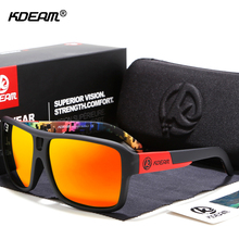 Jam Style Polarized Sunglasses Men Sports Eyewear Brand KDEAM Super Quality Sun Glasses Function Include Full Package