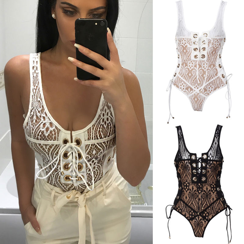 New Fashion Women Clubwear Playsuit Bodycon Bandage Party Jumpsuit Romper Bodysuit Women Sexy Clothes