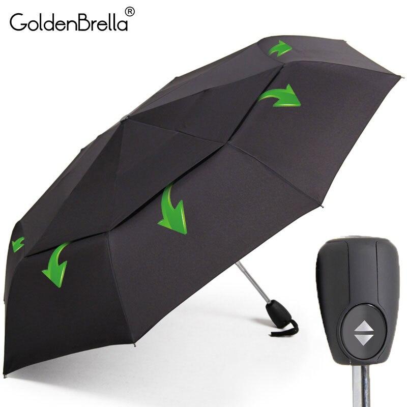 Gran resistencia al viento paraguas para los hombres calidad DoubleLayer plegable Paraguas automático de la lluvia de las mujeres de viaje compacto paraguas al por mayor
